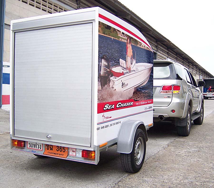 ลาก food truck ฟู้ดทรัค ลากรถขายของ ลากพ่วงขายอาหาร ลากจูงรถบ้าน รถพ่วงบ้าน โมบายโฮม