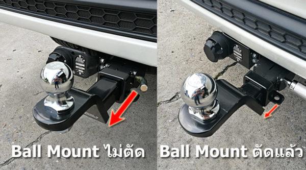 ทางร้านบริการตัด ชุด BallMount ไม่ให้ยื่นยางออกมาเวลาใช้งานจริง